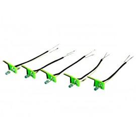 Velbus Set van 5 oranje feedbackleds voor bticino® livinglight-drukknoppen (niet-axiaal) voor gebruik met vmb8pbu