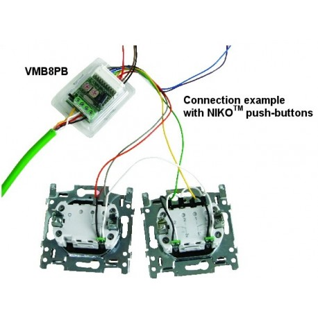 Velbus Set of 5 blue feedback leds for niko® push-buttons for use with vmb8pbu