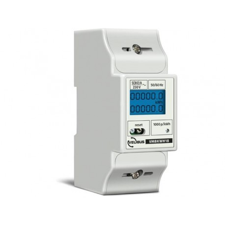 Single phase energy meter for din rail mounting, 5 (80) a, for connection to vmb7in