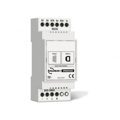 Velbus Configuration module with usb and rs-232 interface for din rail