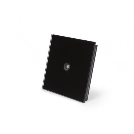 Edge lit control module with motion and twilight sensor, black frosted