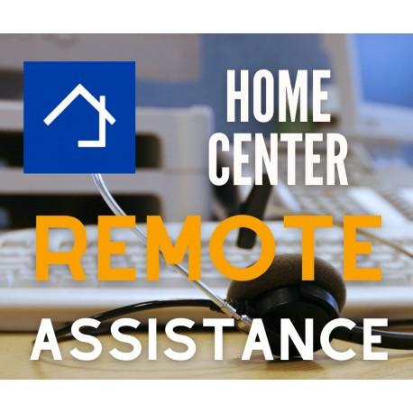 Home center remote assistance
