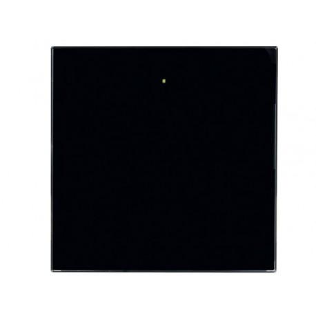 1 knop glazen aanraakpaneel - (Zwart)