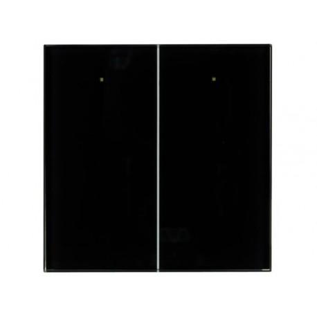 2 knops glazen aanraakpaneel (zwart)