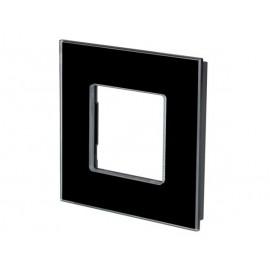 Glazen afdekplaat voor Bticino ® Livinglight (Zwart)