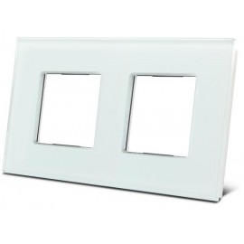 Double glass cover plate for bticino® livinglight (white)