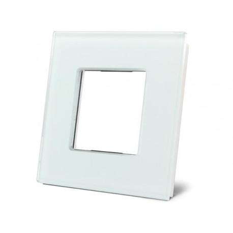 Glazen afdekplaat voor Bticino ® Livinglight (wit)